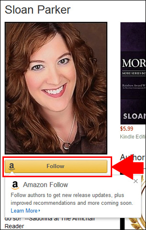 Amazon Author Follow