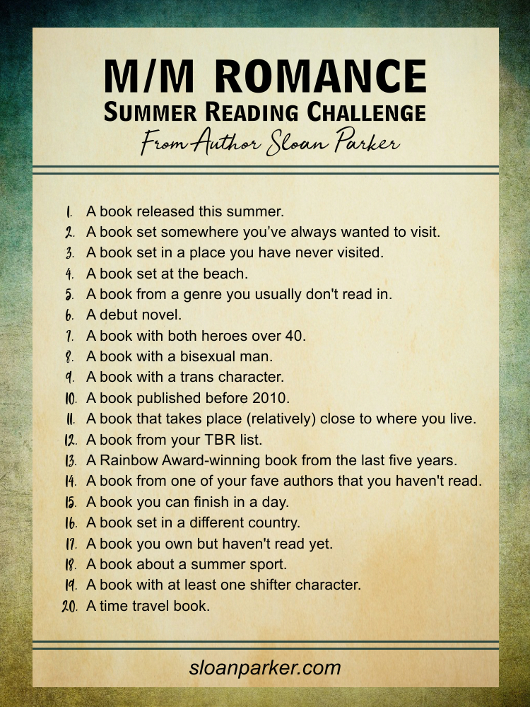 M/M Romance Summer Reading Challenge from Author Sloan Parker